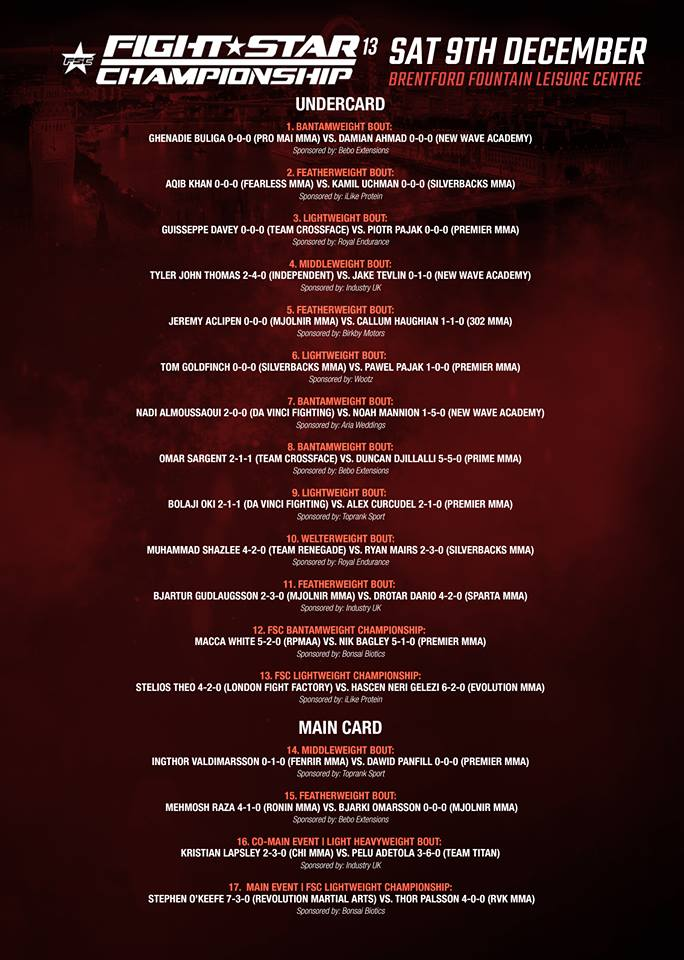 fsc 13 fight card