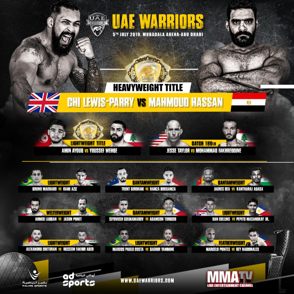 Uae warriors 2 fight card