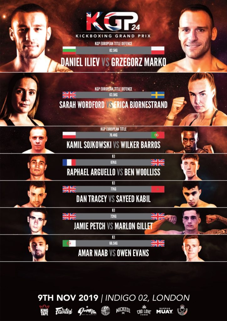 KGP 24 New Poster fight card