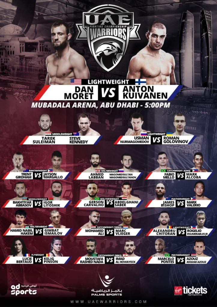 UAE warriors 9 fight card