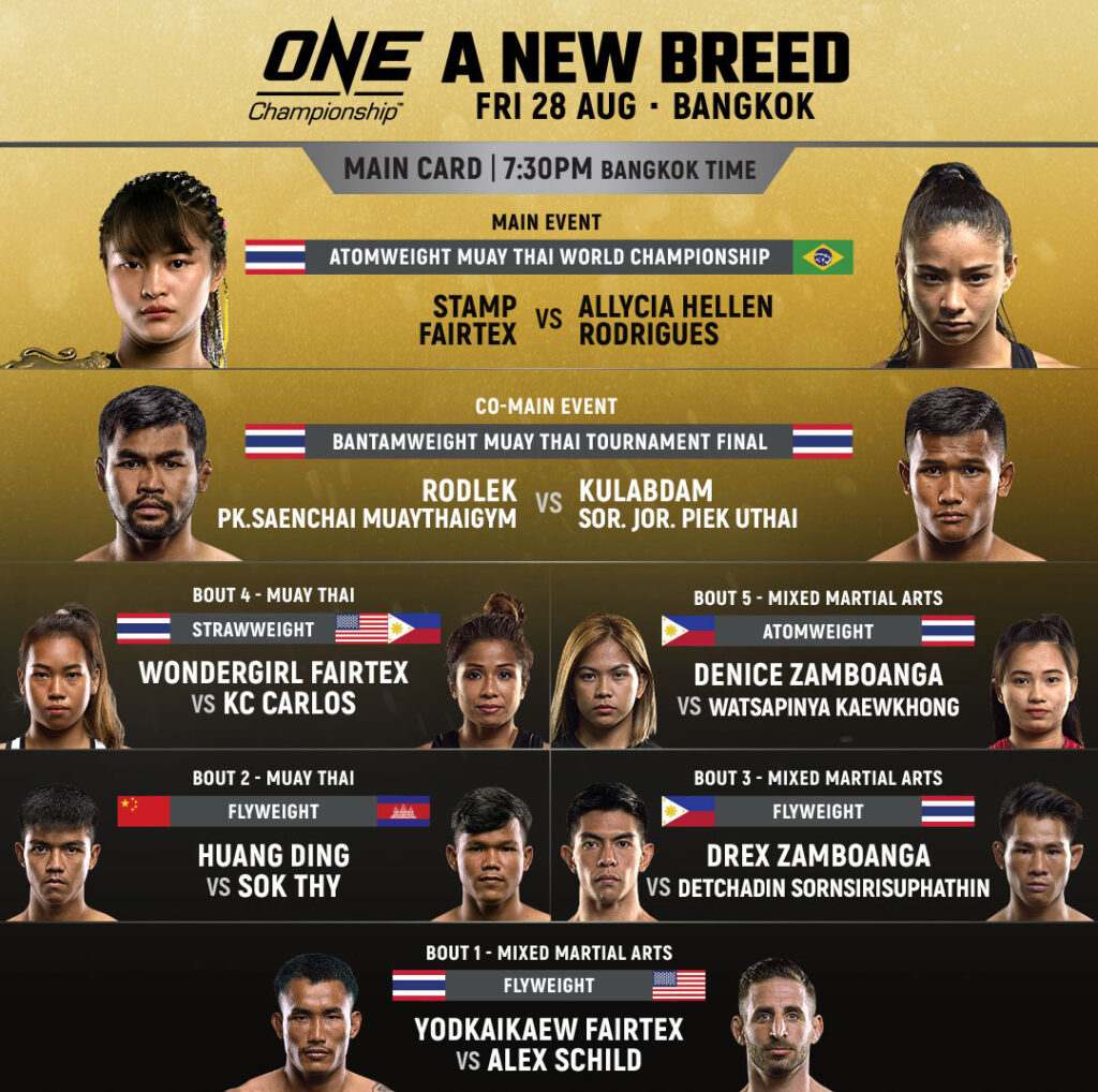 a new breed fight card