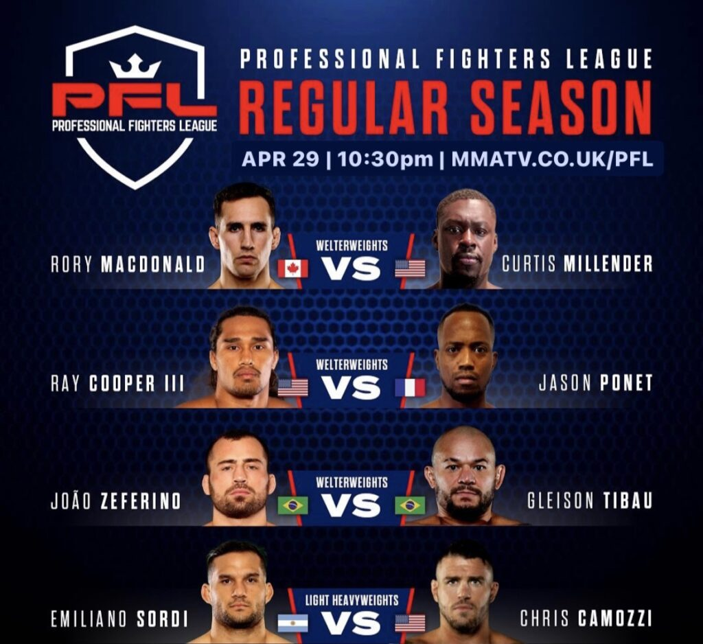 PFL 2 Regular season main card
