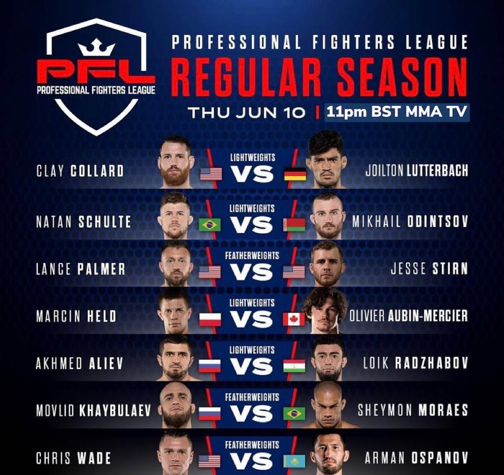 pfl under card june 10th