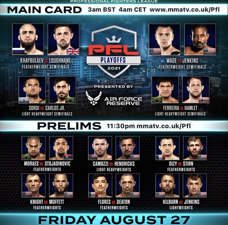 pfl 9 fight card